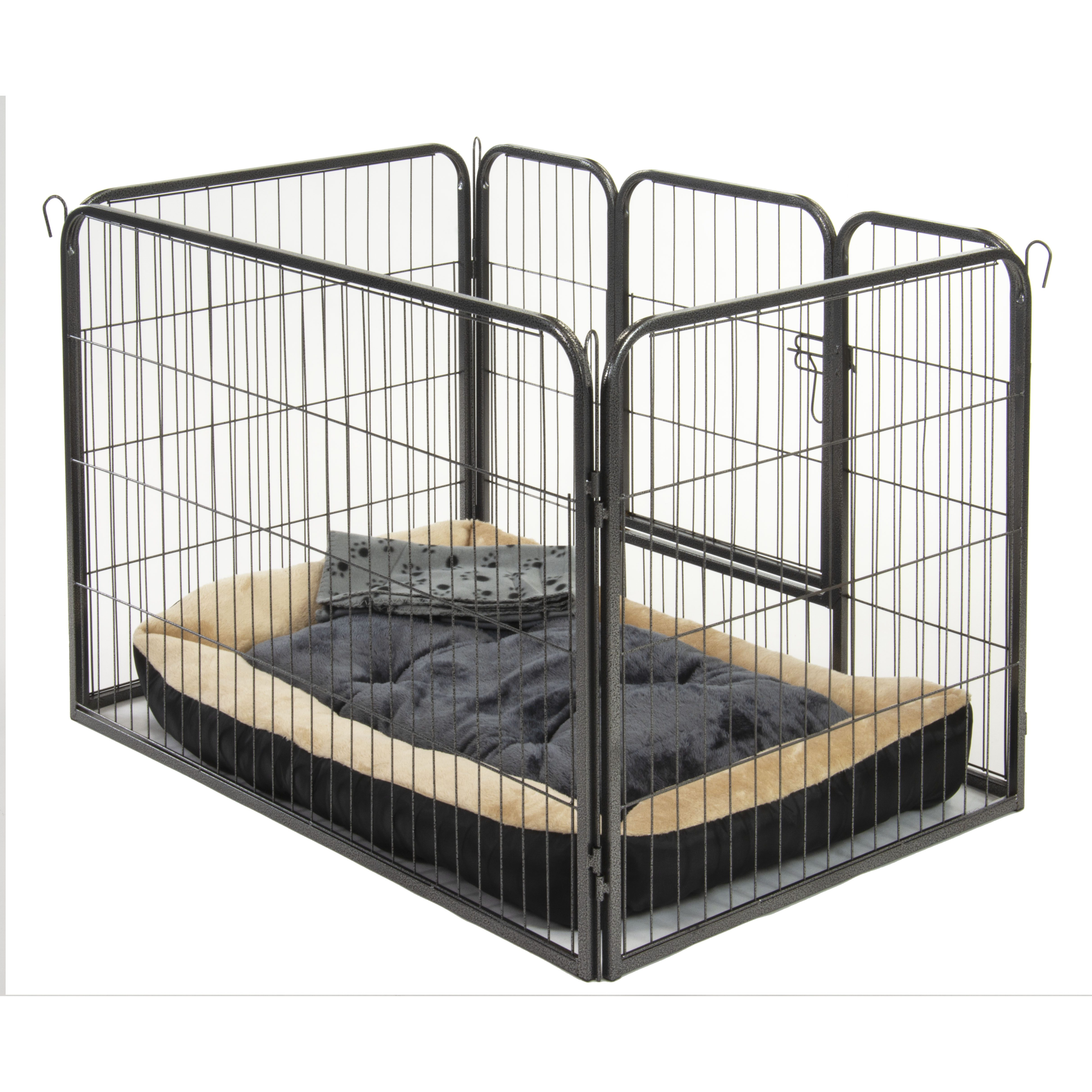 Picture of: Alphapet Large Heavy Duty Pet Dog Puppy Play Pen Whelping Enclosure Including Fitted Fleece Bed And Sleep Blanket Alphapet